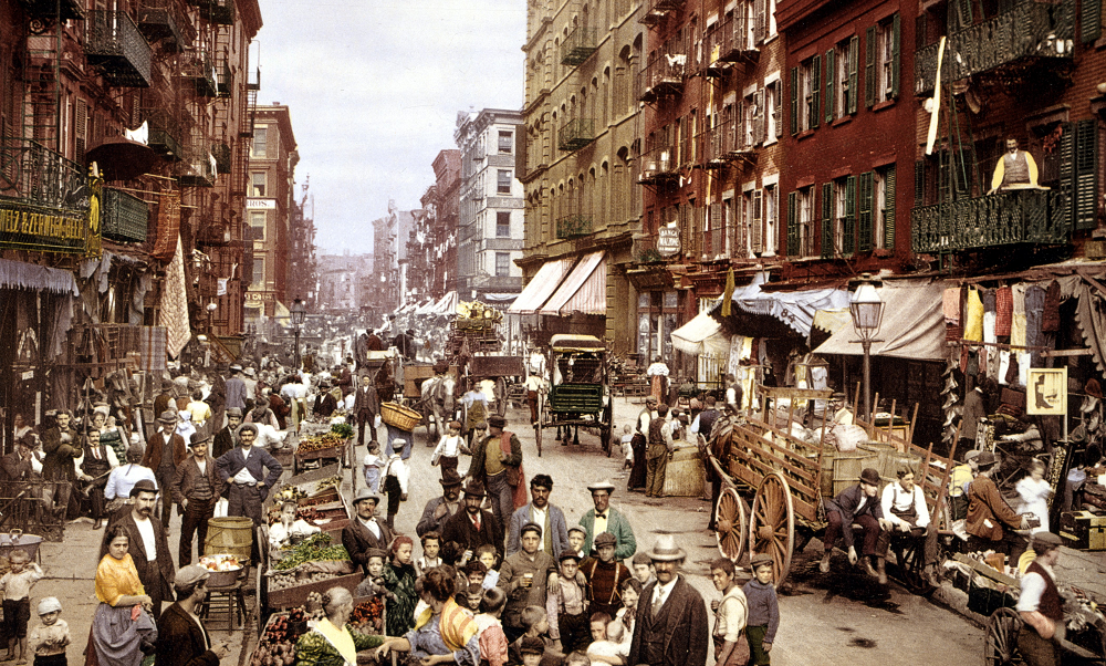 A6 Mulberry_Street_NYC_c1900_LOC_3g04637u, Modernists