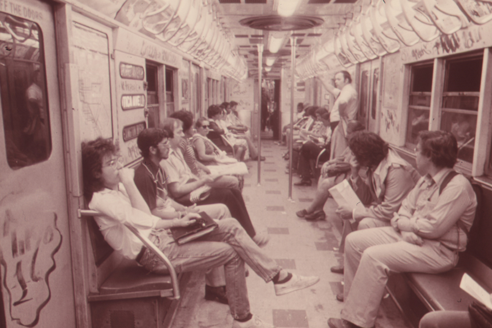 A7 SUBWAY_PASSENGERS_ABOARD_A_NEW_YORK_CITY_TRANSIT_AUTHORITY_CAR_ON_THE_LEXINGTON_AVENUE_LINE_ARE_OBLIVIOUS_TO_THE..._-_NARA_-_556813, Postmodernists