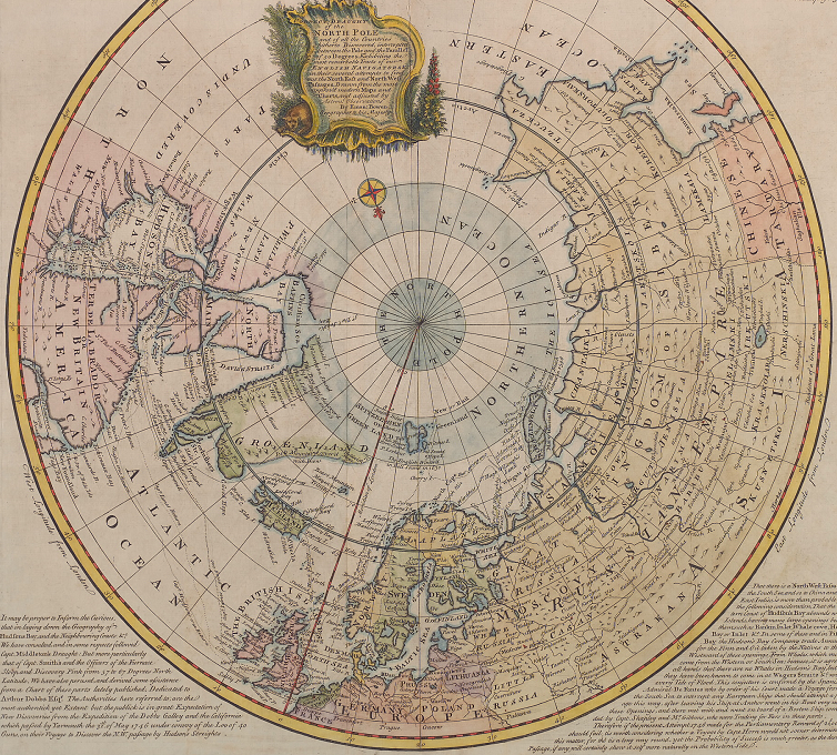 B4 A_correct_draught_of_the_North_Pole_and_of_all_the_countries_hitherto_discovered_intercepted_between_the_pole_and_the_parallel_of_50_degrees, Reformation/Enlightenment Era