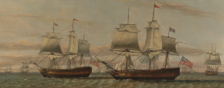 B4 Thomas_Luny_-_An_Indiaman_and_a_Two_Decker_Hove_to,_Said_to_be_Thomas_Dumar,_Esq._in_H.M._Ship_'Portland'_Deliveri..._-_Google_Art_Project, Reformation/Enlightenment Era