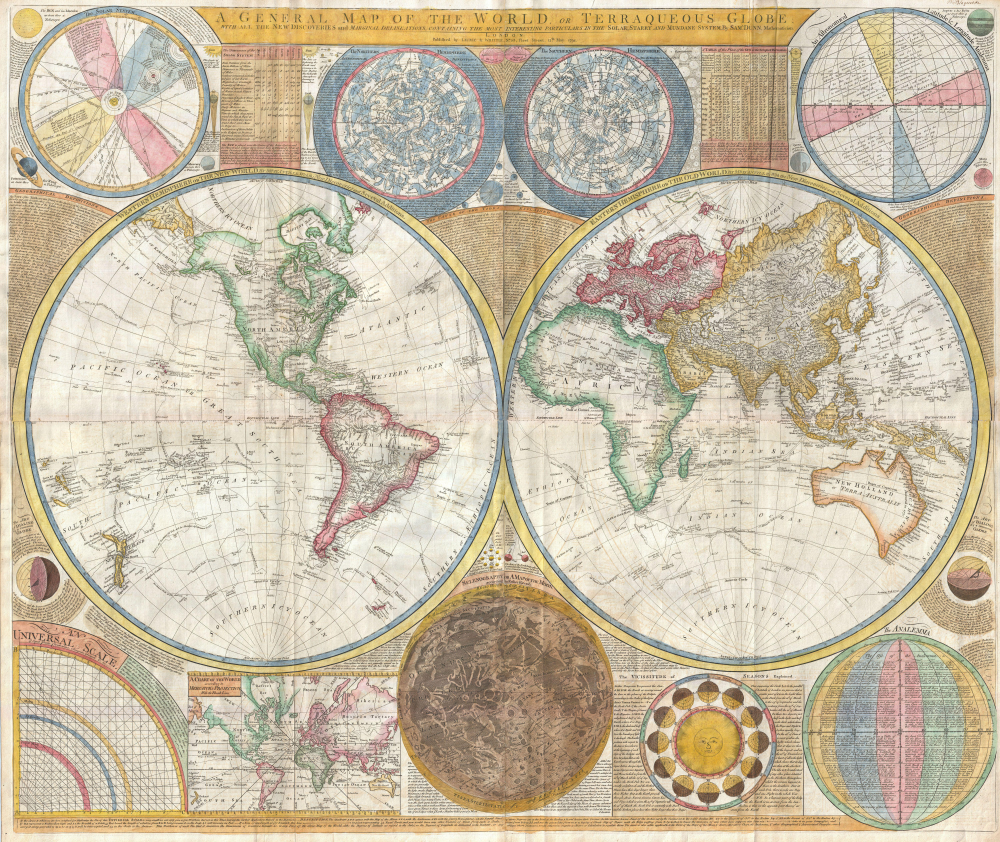 World Map 1794, World Literature